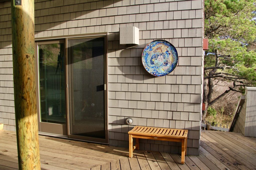 Sliding Door Guesthouse Entrance